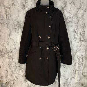 Calvin Klein Button Front PeaCoat Water Resistant
